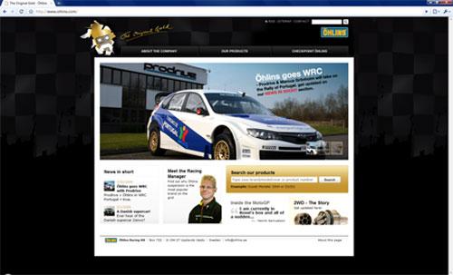 Öhlins webbplats